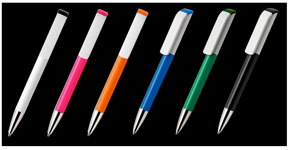 zdjęcie długopisów w dostępnych kolorach, długopisy z nadrukiem